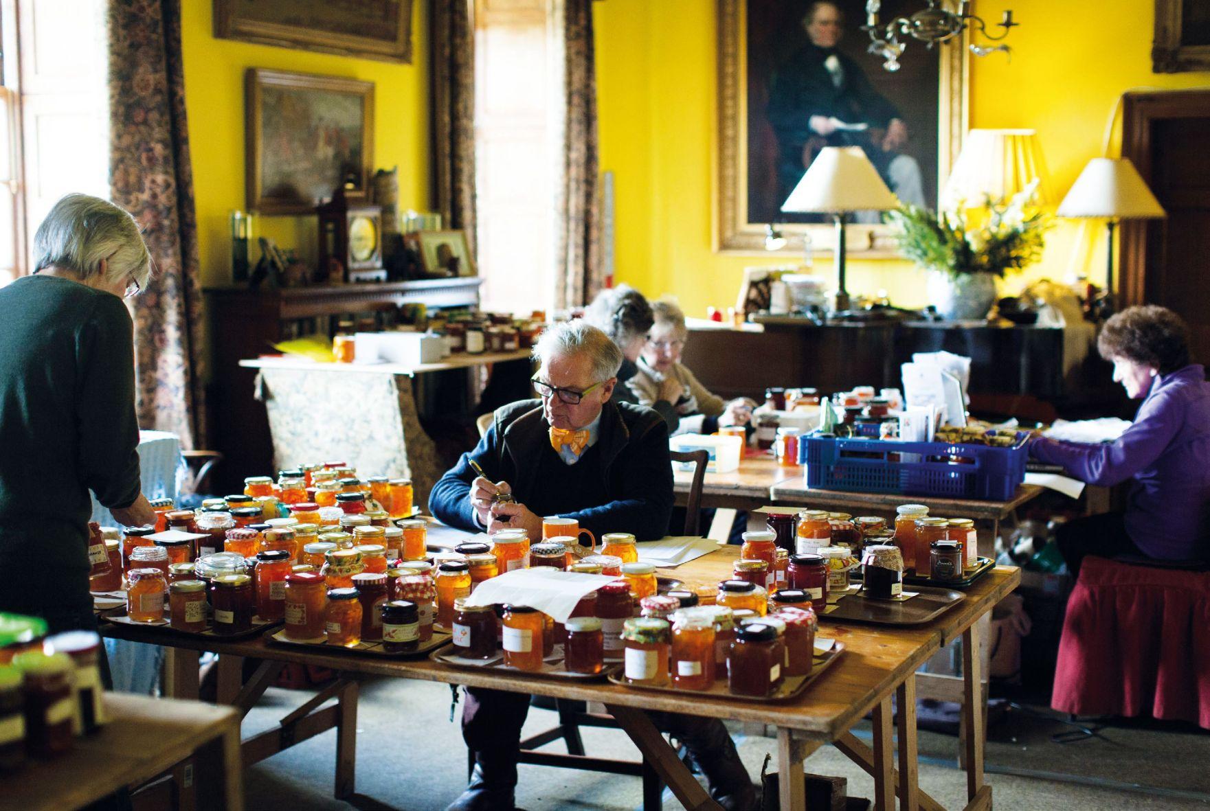 The judges at the World's Original Marmalade Awards hard at work
